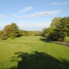 A view of the par-4 1st fairway from Pines course at Blue Hill Golf Course