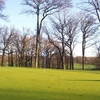 A sunny view of green #5 at LaTourette Golf Course