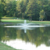 View of the fountain and green at Tri County Country Club