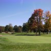 A fall view of a hole at En-Joie Golf Course