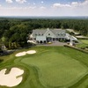 Hampton Hills: Aerial view of the clubhouse and 18th green