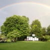 A rainbow over Saxon Woods Golf Course