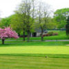 A spring view of a green at Cherry Valley Club