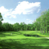 A view of a green with water coming into play at Country Club of Purchase (Nicklaus Design)