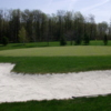 A view of the 1st green at Woodcrest Golf Club