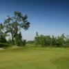 A view of a green at Diamond Hawk Golf Course