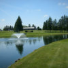 A view over a pond at Bob-O-Link Golf Club