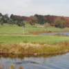 A view of a hole with water coming into play at Lochmor Golf Course