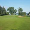 A view of the 9th green protected by sand traps at Seneca Falls Country Club