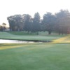 A view of a hole with water coming into play at Woodside Club