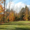 A fall view of a green at Butternut Valley Golf