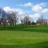 A view of a green at Vails Grove Golf Course