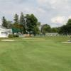 A view of a green protected by bunkers at Columbia Golf & Country Club