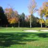 A view of a green at Pine Hills Golf Course