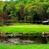 A view of green #15 at Lochmor Golf Course