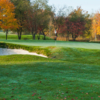A fall day view of a green at Mahopac Golf Club