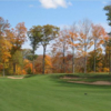 A fall day view from a tee at Schroon Lake Golf Course