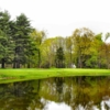 A view over the pond of hole #4 at Woodstock Golf Club