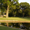 A view of a hole with water coming into play at Old Oaks Golf Course