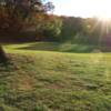 A sunny day view of a hole at Forest Park Golf Course (Project Woodhaven)